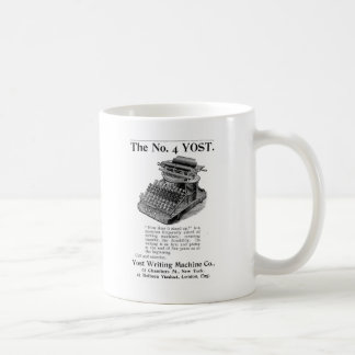 The No. 4 Yost Writing Machine Coffee Mug
