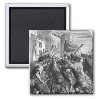 The 'No Popery' rioters attacking 2 Inch Square Magnet