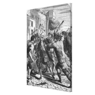 The 'No Popery' rioters attacking Gallery Wrap Canvas