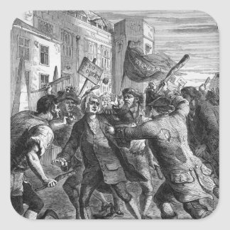 The 'No Popery' rioters attacking Sticker
