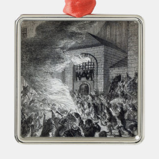 The 'No Popery' rioters burning the prison Metal Ornament