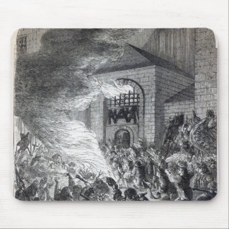 The 'No Popery' rioters burning the prison Mouse Pad