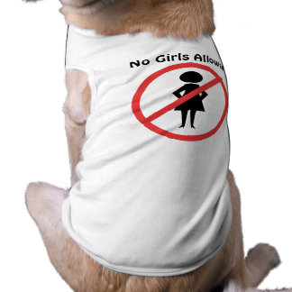 The no symbol pictogram No Girls Allowed T-Shirt