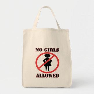 The no symbol pictogram No Girls Allowed Tote Bag