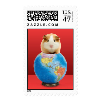 the noble cavy astride the earth postage stamps