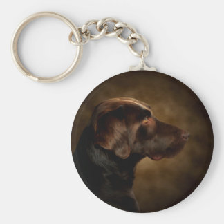 The Noble Lab Basic Round Button Keychain