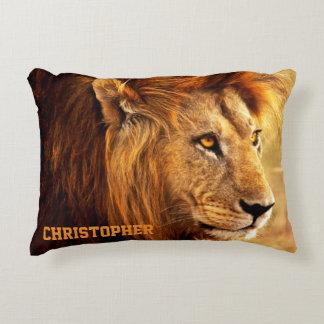 The Noble Lion Photograph Accent Pillow
