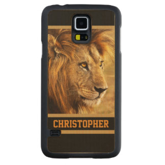 The Noble Lion Photograph Carved® Maple Galaxy S5 Slim Case
