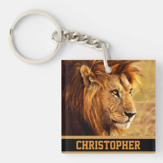 The Noble Lion Photograph Keychain