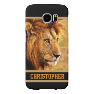The Noble Lion Photograph Samsung Galaxy S6 Cases