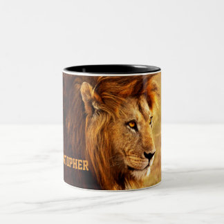 The Noble Lion Photograph Two-Tone Coffee Mug