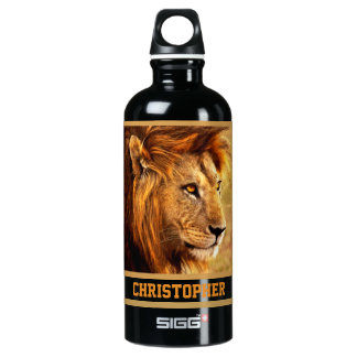 The Noble Lion Photograph Water Bottle