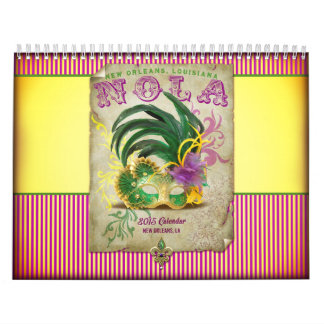 The NOLA New Orleans Louisiana Collection Calendar