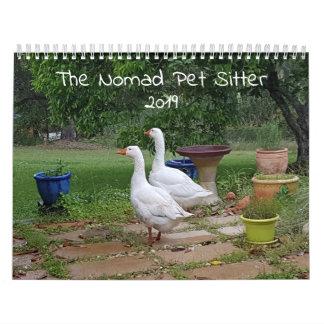 The Nomad Pet Sitter Pet Calendar 2019