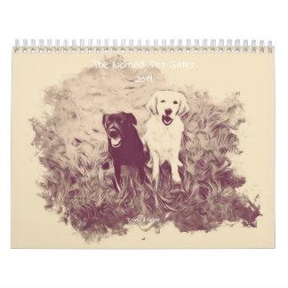 The Nomad Pet Sitter Sepia Pet Calendar 2019