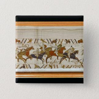The Norman cavalry attacks the English Pinback Button