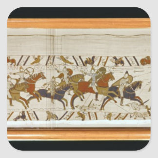 The Norman cavalry attacks the English Square Sticker