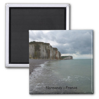 The Normandy coast in France - lesson Petites Dall 2 Inch Square Magnet