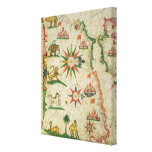 The North African Coast, from a nautical atlas Canvas Print