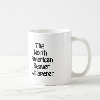 the north american beaver whisperer coffee mug
