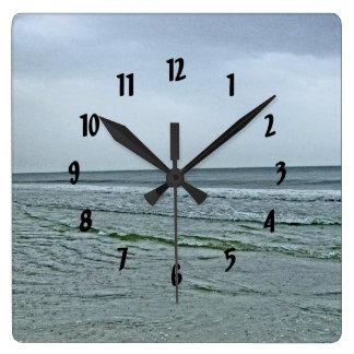 The North Carolina Seashore Square Wall Clocks