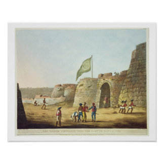 The North Entrance into the Fort of Bangalore, pla Poster
