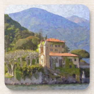 The North of Italy Bellagio Cork-backed Coasters