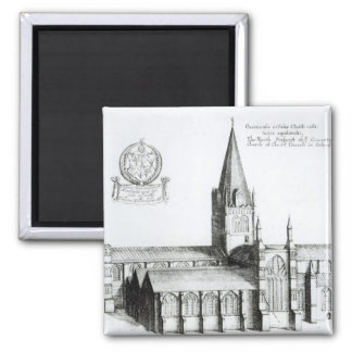 The North Prospect of Conuentuall 2 Inch Square Magnet