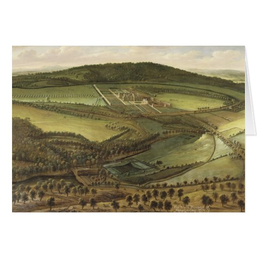 The North Prospect of Hampton Court, c.1699 (oil o Greeting Cards