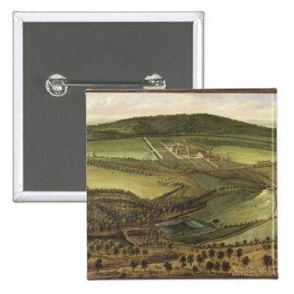 The North Prospect of Hampton Court, c.1699 (oil o Pinback Button