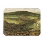 The North Prospect of Hampton Court, c.1699 (oil o Rectangular Magnet