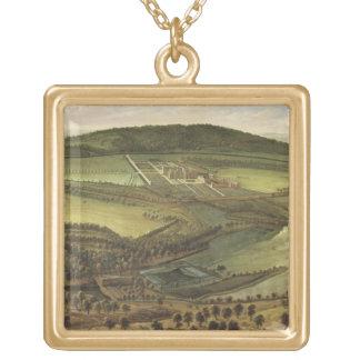 The North Prospect of Hampton Court, c.1699 (oil o Square Pendant Necklace
