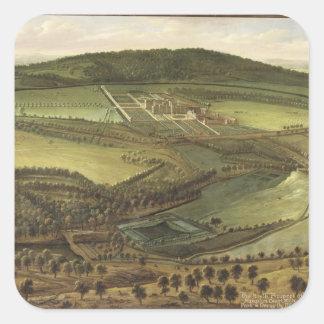 The North Prospect of Hampton Court, c.1699 (oil o Square Sticker