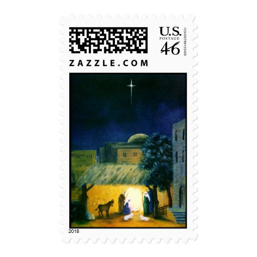 The North Star Nativity Christmas Postage Stamp