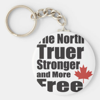 The North Truer Strong and more Free Keychain