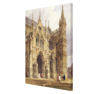 The North-West Porch of Salisbury Cathedral, 1832 Canvas Print