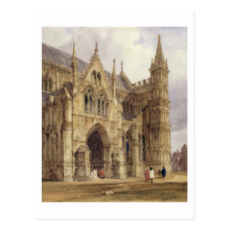 The North-West Porch of Salisbury Cathedral, 1832 Postcard