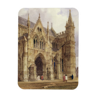 The North-West Porch of Salisbury Cathedral, 1832 Rectangular Photo Magnet