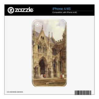The North-West Porch of Salisbury Cathedral, 1832 Skins For iPhone 4S