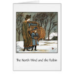 The North Wind & The Robin, Greeting Card