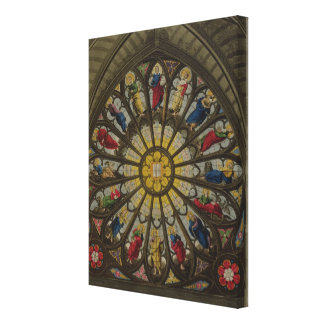 The North Window, plate D from 'Westminster Abbey' Canvas Print