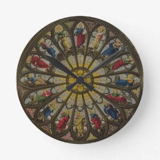 The North Window, plate D from 'Westminster Abbey' Round Wallclock