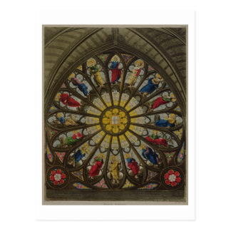 The North Window, plate D from 'Westminster Abbey' Postcard
