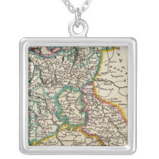 The Northeast part of Germany Square Pendant Necklace