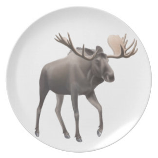 The Northern Bull Moose Plate