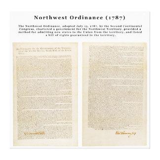 The Northwest Ordinance 1787 Canvas Print