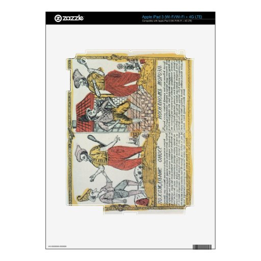 The Nose and the Frost, Russian, late 18th century Skins For iPad 3