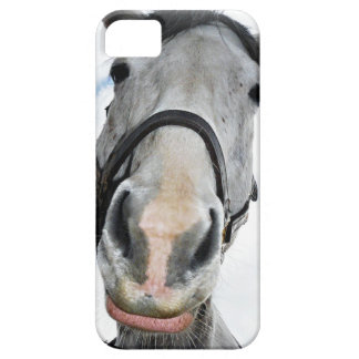 The Nose Knows Funny Horse Lips Photo iPhone SE/5/5s Case