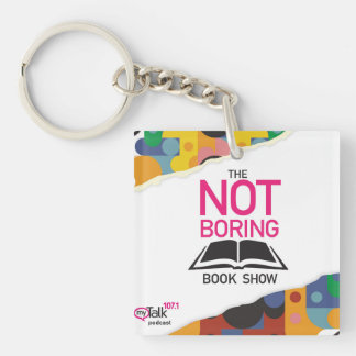 The Not Boring Book Show Key Chain Square