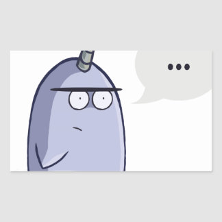 The Nothing Narwhal Rectangular Sticker